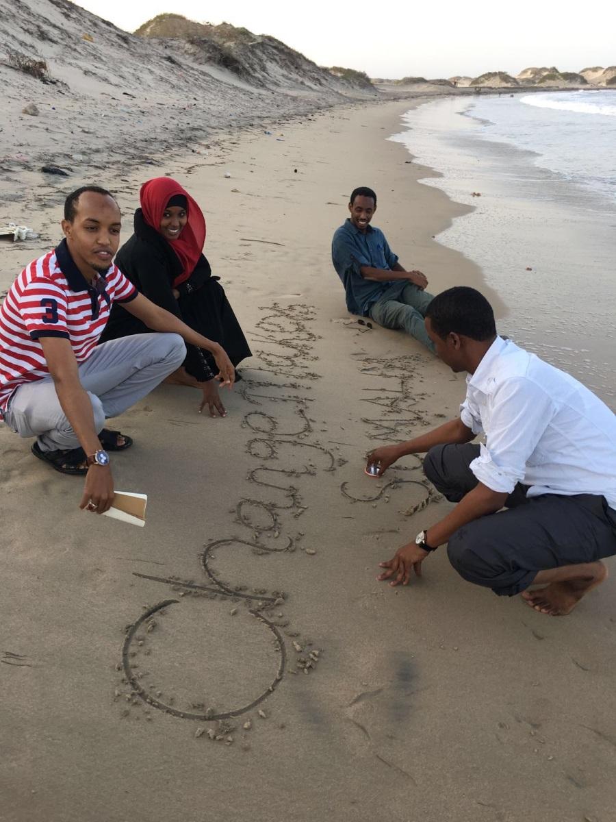 The teams making change at Lido Beach in Mogadishu